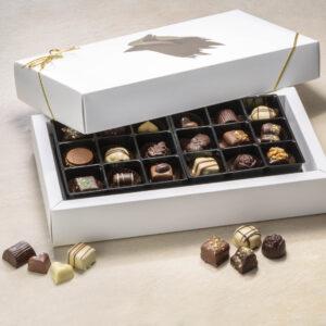 Dessertchokolade gaveæske med 36 stk 400g