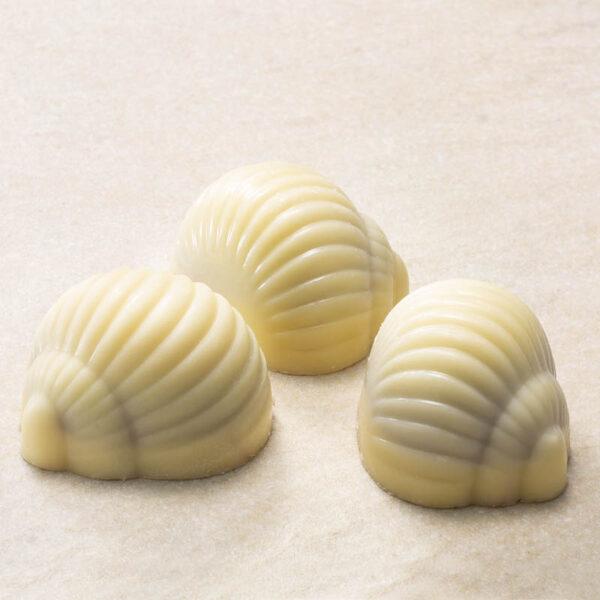 nougat overtrukket med hvid chokolade - nougatsnegle