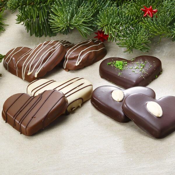 chokoladehjerter - marcipan