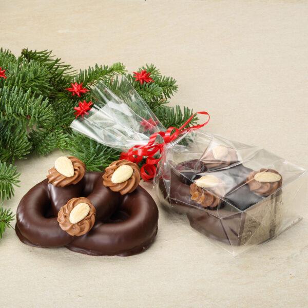 indpakket chokoladekringle